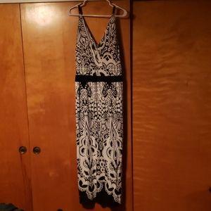 Dresses & Skirts - Long black & white dress